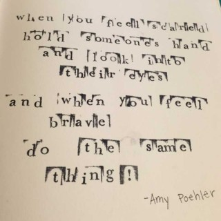 Dip Dye Journal - Amy Poehler Quote