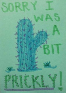 Sorry I was a bit prickly, by Anna Seagrave