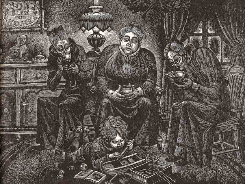 Old Ladies - A Childs Christmas in Wales - Illustrated by Fritz Eichenberg